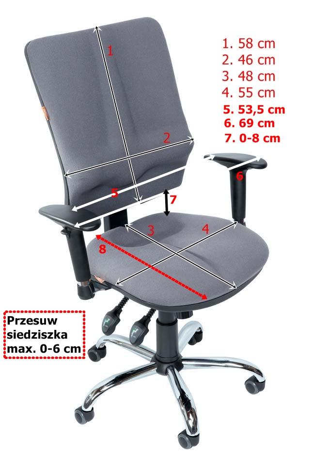 Fotel rehabilitacyjny Business Kulik-System - wymiary