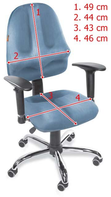 Wymiary krzesła obrotowego Classic Pro Plus