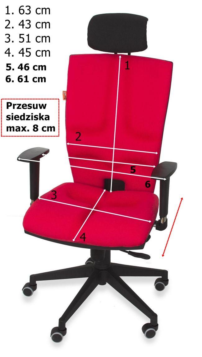 Wymiary fotela biurowego Elegance