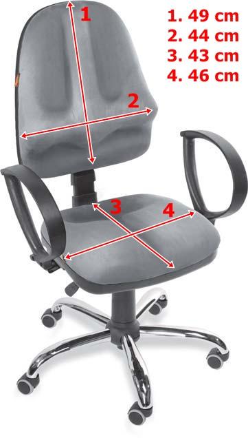 Wygodne krzes�o do komputera Classic - wymiary
