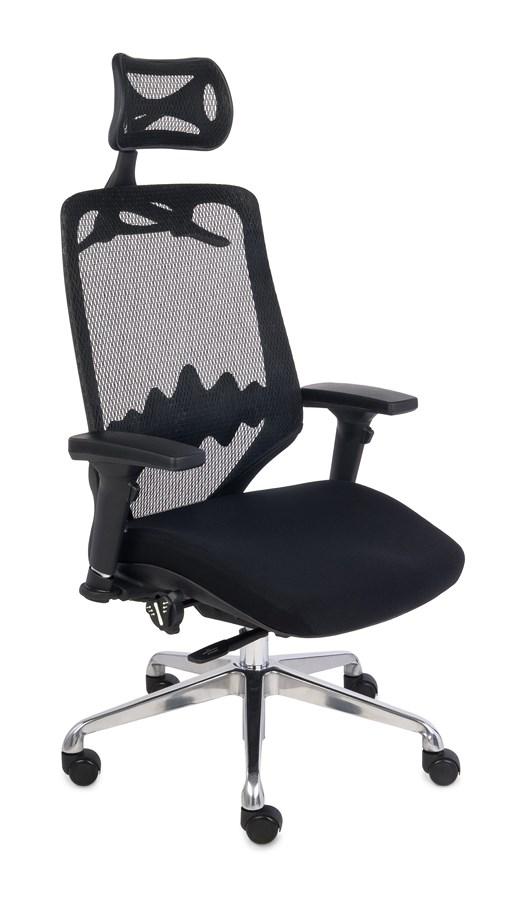 Fotel do biura FUTURA 4 S - czarne siedzisko