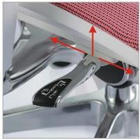 Nowoczesny fotel do komputera Ioo - regulacja joystikiem