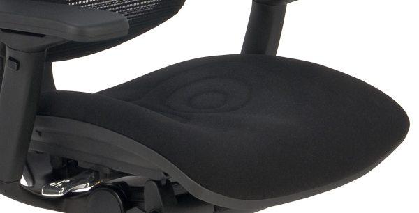 Nowoczesny fotel do komputera Ioo BT KMD31 - siedzisko tapicerowane