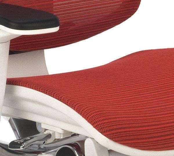Nowoczesny fotel do komputera Ioo WS KMD32 - siedzisko siatkowe