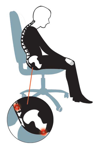 Przy źle wyprofilowanym fotelu potrzebna jest Nakładka na fotel