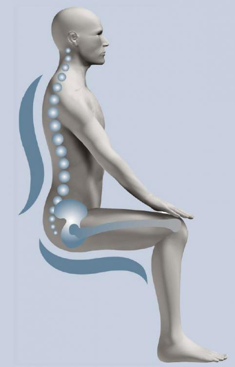 Ergonomiczne krzeslo komputerowe firmy Kulik System pomaga przy dyskopatii